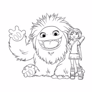 Abominable coloring page 4