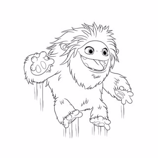 Abominable coloring page 1