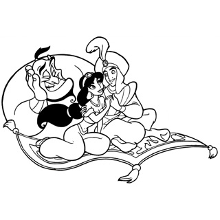 Aladdin coloring page 11