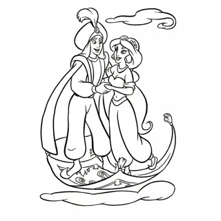 Aladdin coloring page 17