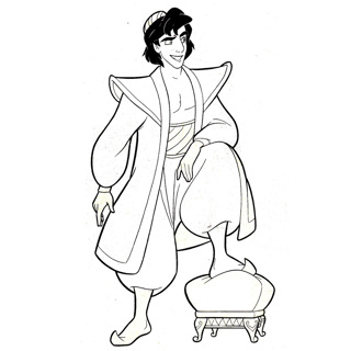 Aladdin coloring page 15