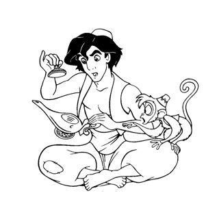 Aladdin coloring page 14