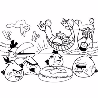 Angry Birds coloring page 3