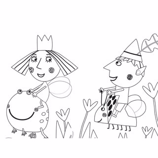 Ben and Holly's Little Kingdom coloring page 2