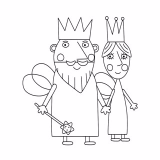 Ben and Holly's Little Kingdom coloring page 7