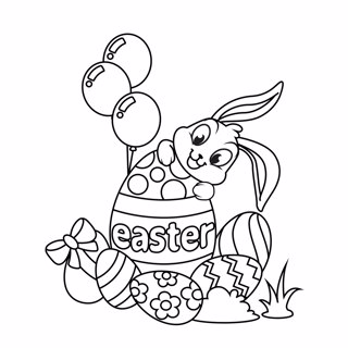 Easter coloring page 7