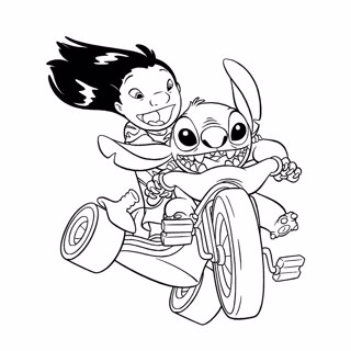 Lilo and Stitch coloring page 7