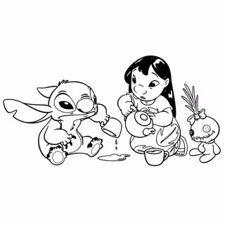 Lilo and Stitch coloring page 6