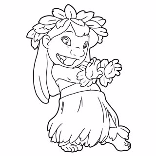 Lilo and Stitch coloring page 10