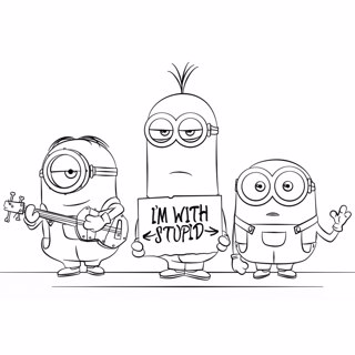 Minions coloring page 12