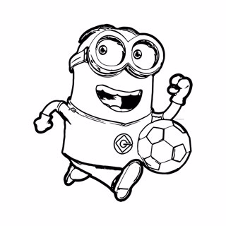Minions coloring page 5