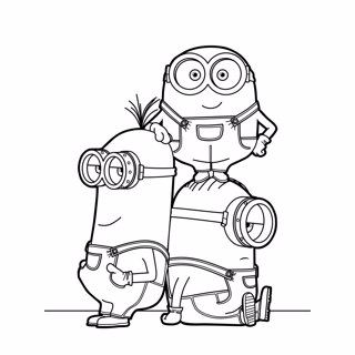 Minions coloring page 9