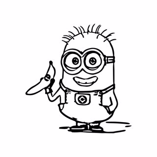 Minions coloring page 6