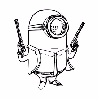 Minions coloring page 7