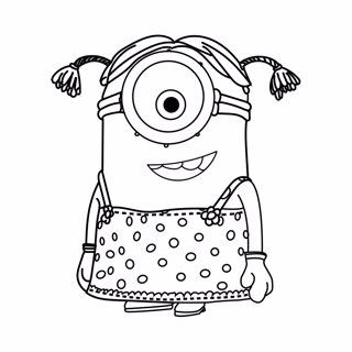Minions coloring page 2