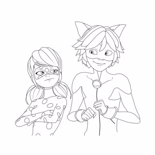 Miraculous coloring page 4