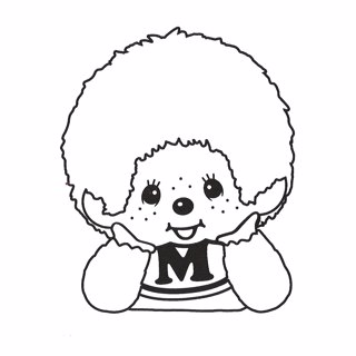 Monchhichi coloring page 2