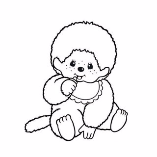 Monchhichi coloring page 1