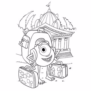Monster Inc coloring page 11