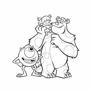 Monster Inc coloring page 8