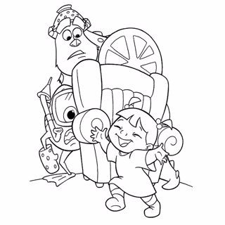 Monster Inc coloring page 12