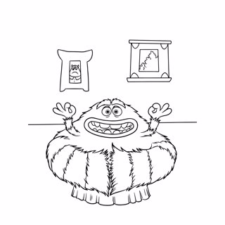 Monster Inc coloring page 7