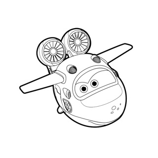 Super Wings coloring page 1