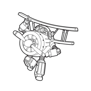 Super Wings coloring page 6