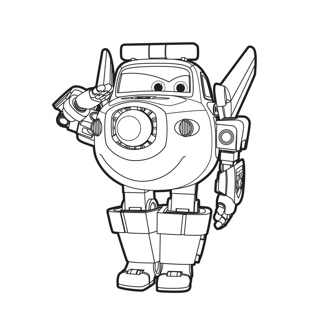 Super Wings coloring page 7