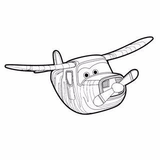 Super Wings coloring page 15